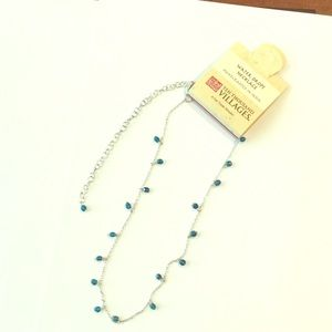 Ten Thousand Villages Teal Water Drops  Necklace